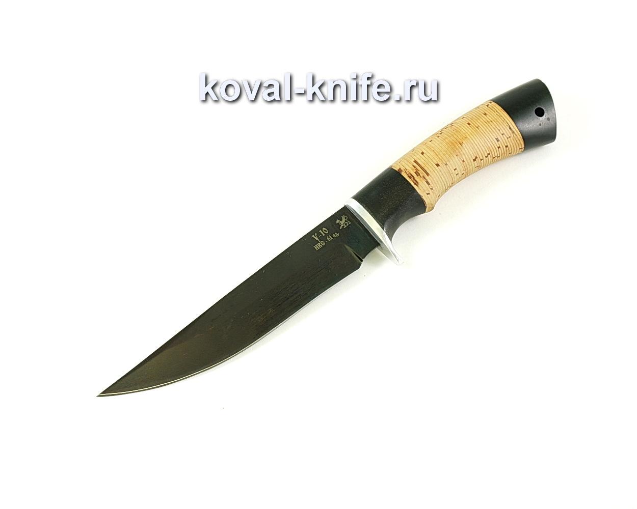 Нож Лис (сталь У10), рукоять граб, береста A076