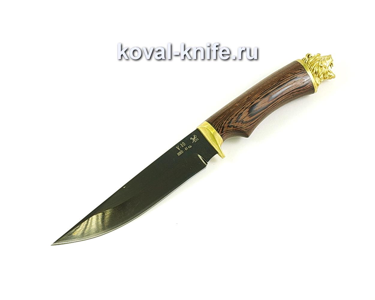 Нож Лис (сталь У10), рукоять венге, литье A077