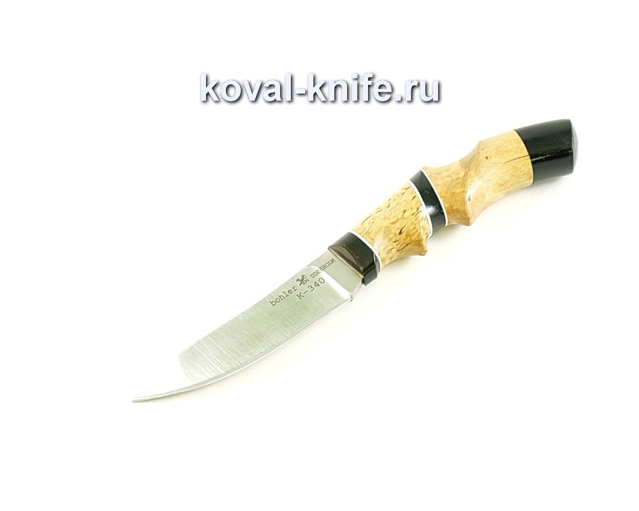 Нож Лань (сталь K-340), рукоять эбонит, карелка
