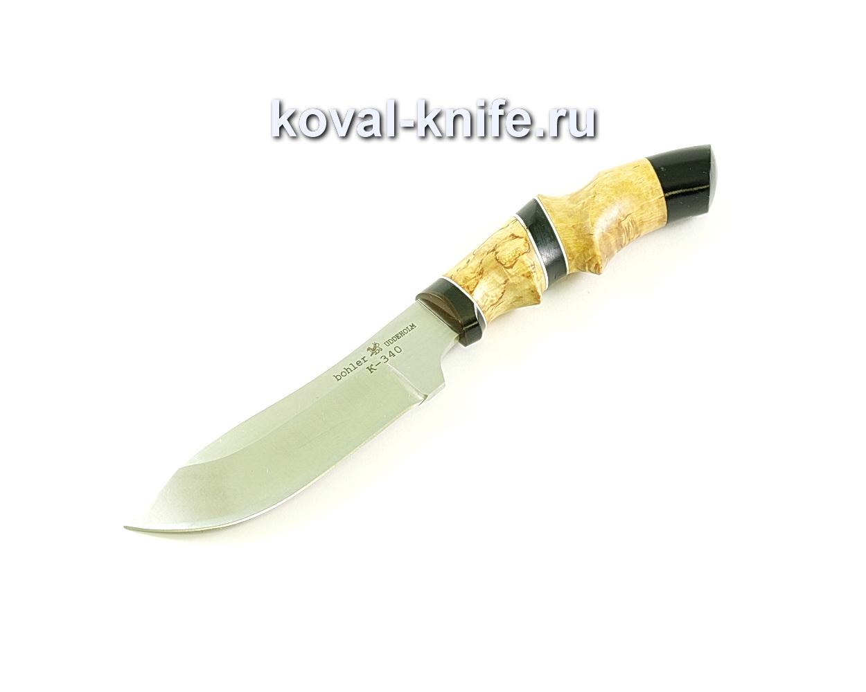 Нож Кабан (сталь K-340), рукоять эбонит, карелка A112