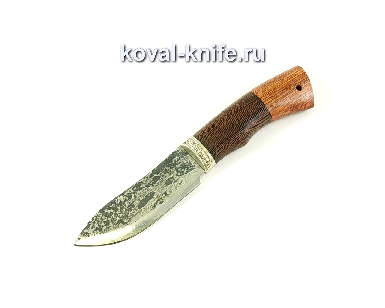 Нож Кабан (сталь 9хс), рукоять венге, бубинга, мельхиор
