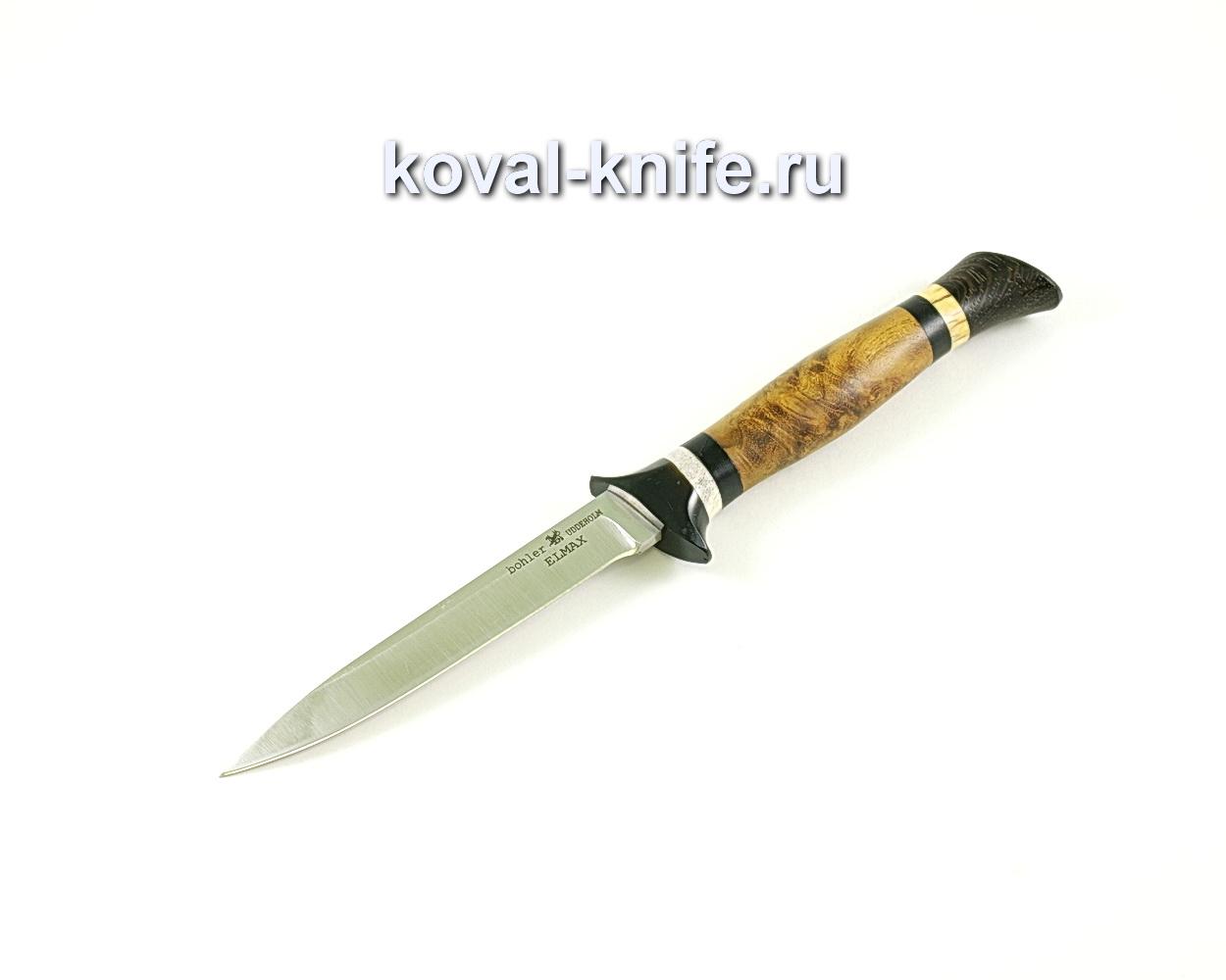Нож Коготь (сталь Elmax), рукоять эбонит, карелка, венге A334
