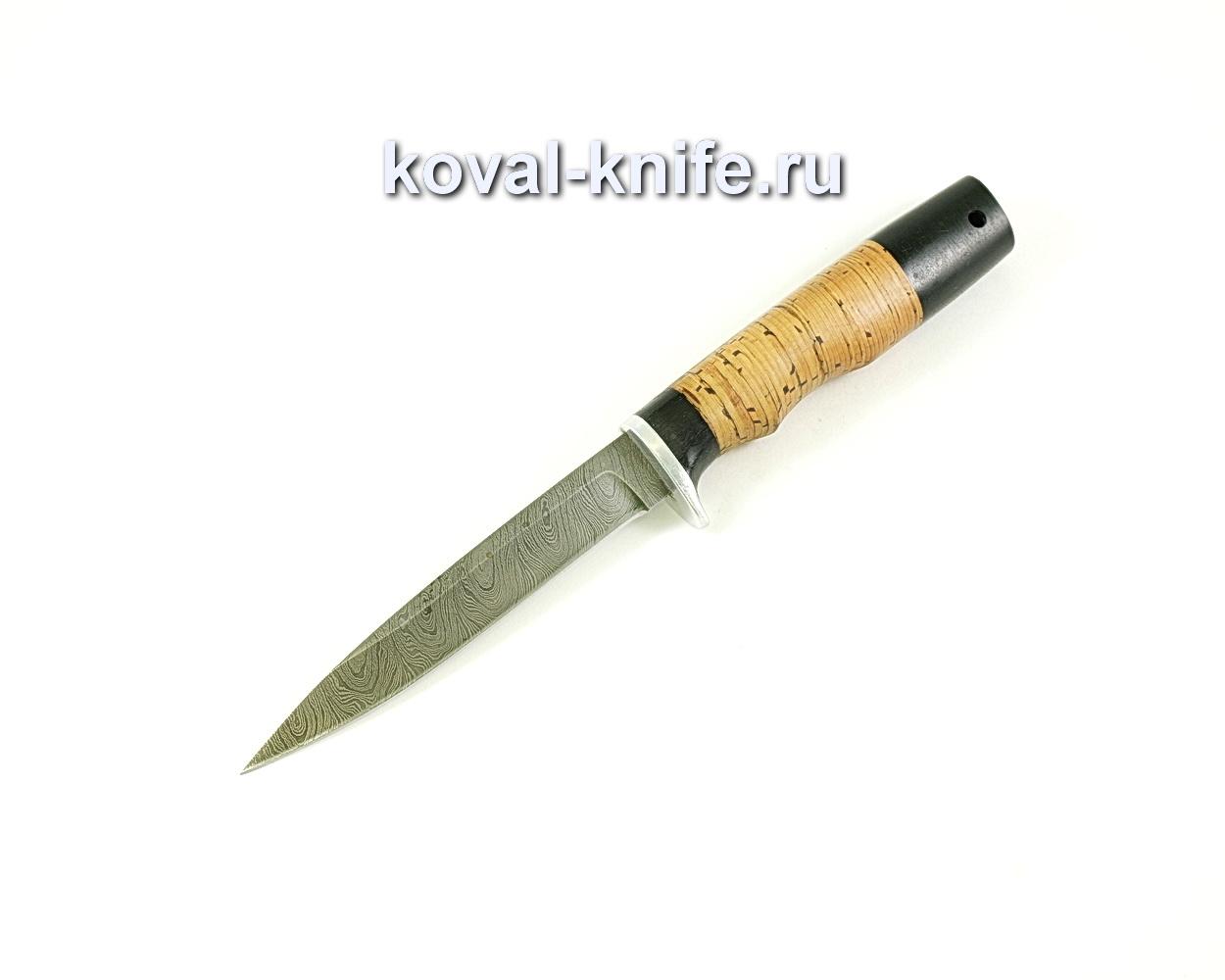 Нож коготь (сталь дамасская), рукоять граб, береста A068