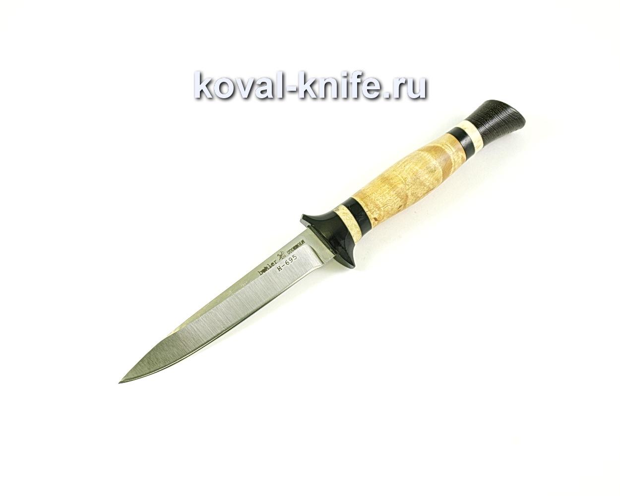 Нож Коготь (сталь N-695), рукоять эбонит, карелка, венге A108
