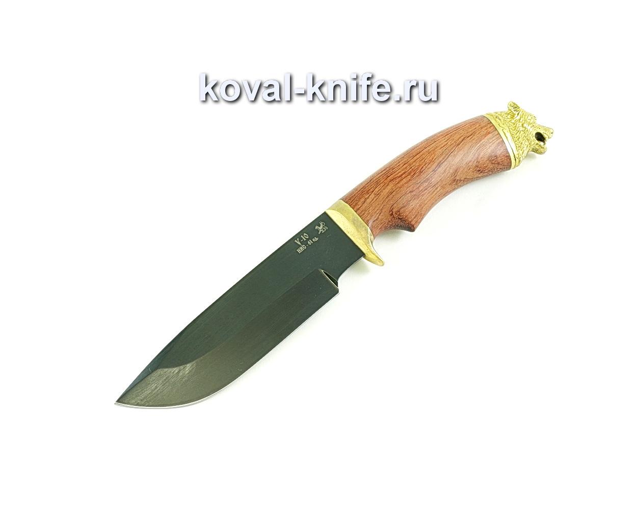 Нож Барс (сталь У10), рукоять бубинга, литье A083