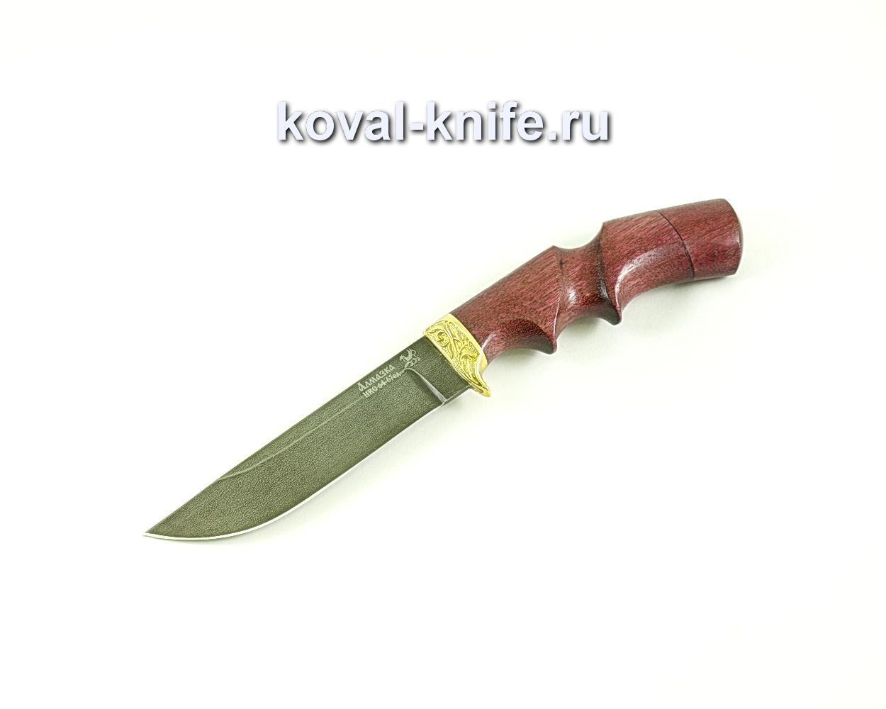Нож Белка (сталь ХВ5-Алмазка), рукоять амарант, литье