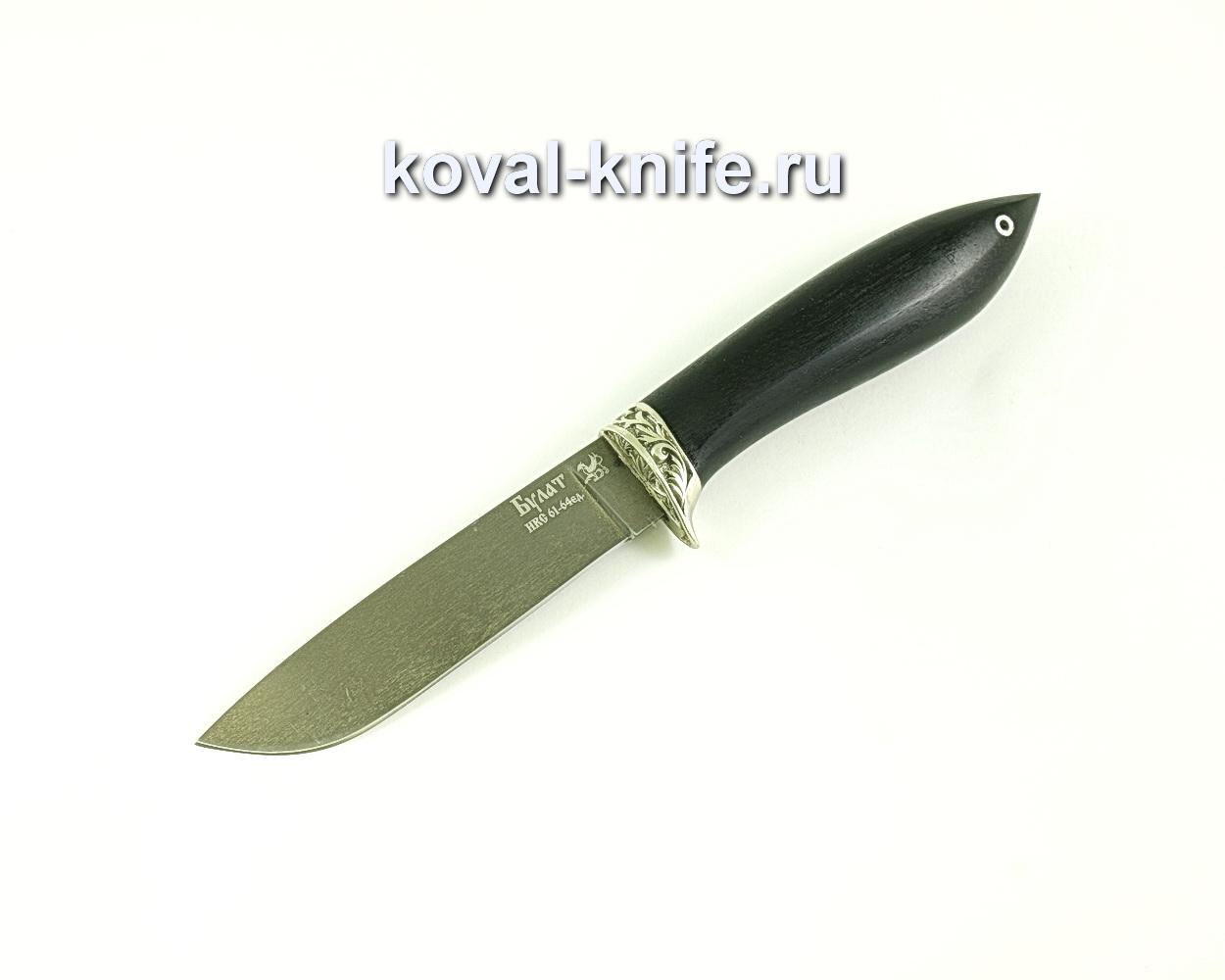 Нож Белка (сталь булат), рукоять граб, литье