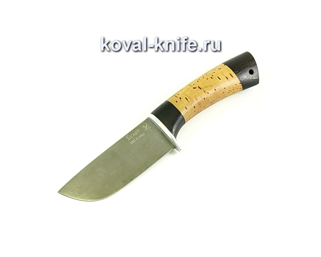 Нож Бобр (сталь Булат), рукоять граб, береста A091