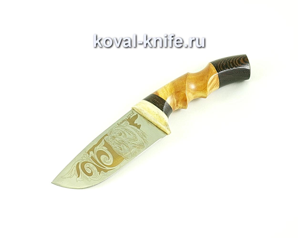 Нож Бобр (сталь 95х18), рукоять рог,венге, кап A276