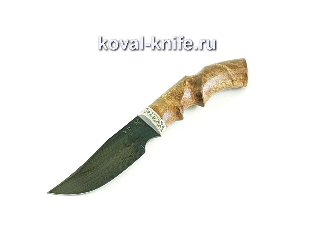 Нож Бекас (сталь У10), рукоять орех, мельхиор A084