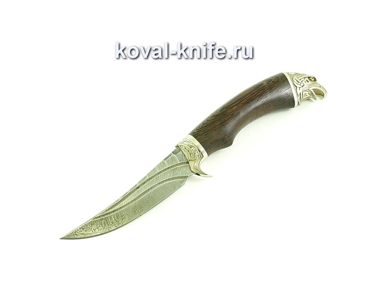 Нож Ворон (сталь дамасская), рукоять венге, литье A139