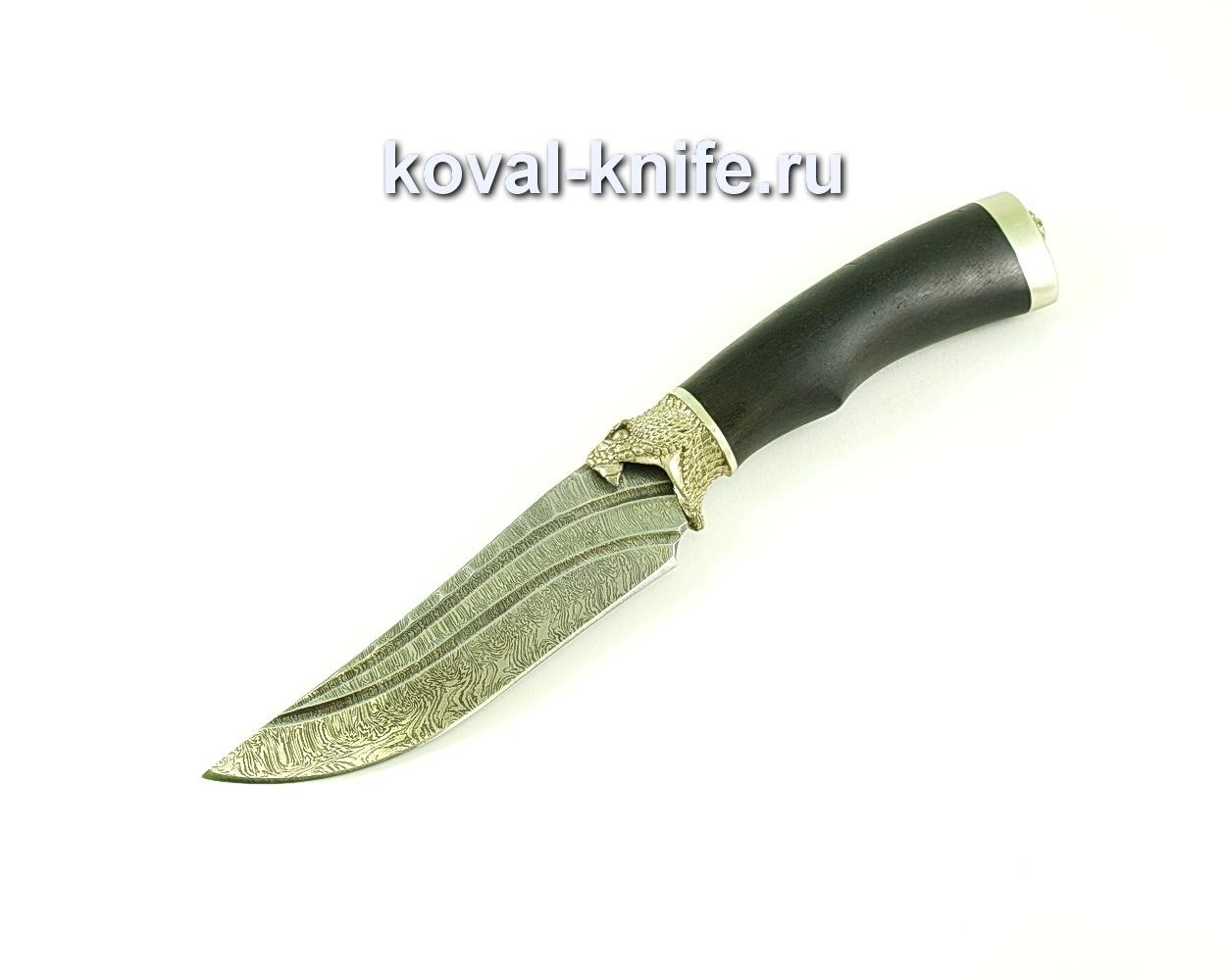 Нож клыч (сталь дамасская), рукоять граб, литье A140