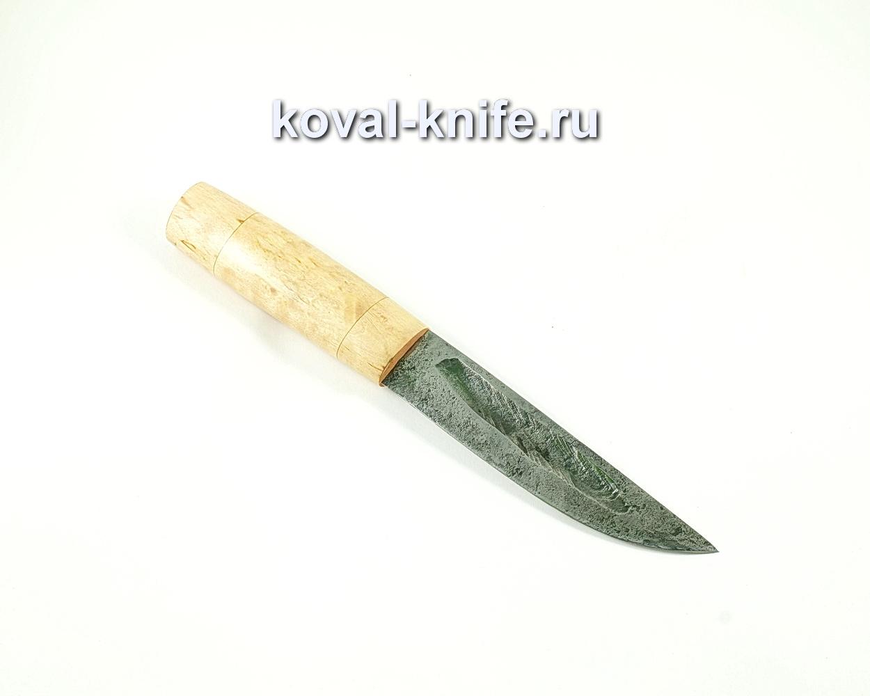Нож Якут (сталь 9хс), рукоять карельская береза A132