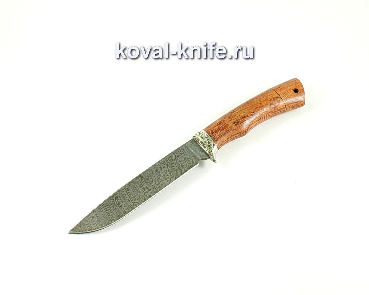 Нож Турист (сталь дамасская), рукоять бубинга, литье A142