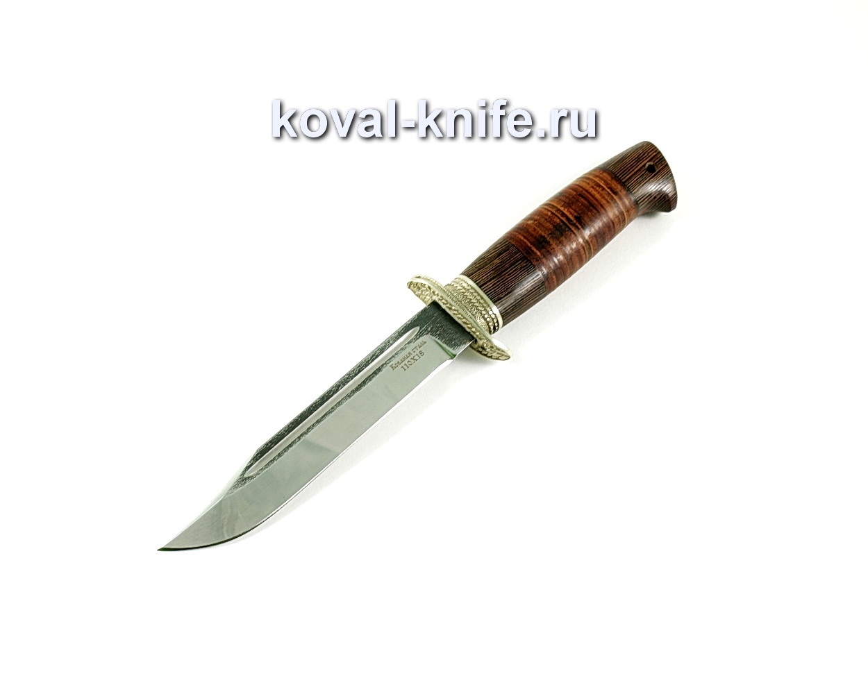 Нож Штрафбат (сталь 110х18) рукоять венге, кожа, литье A217