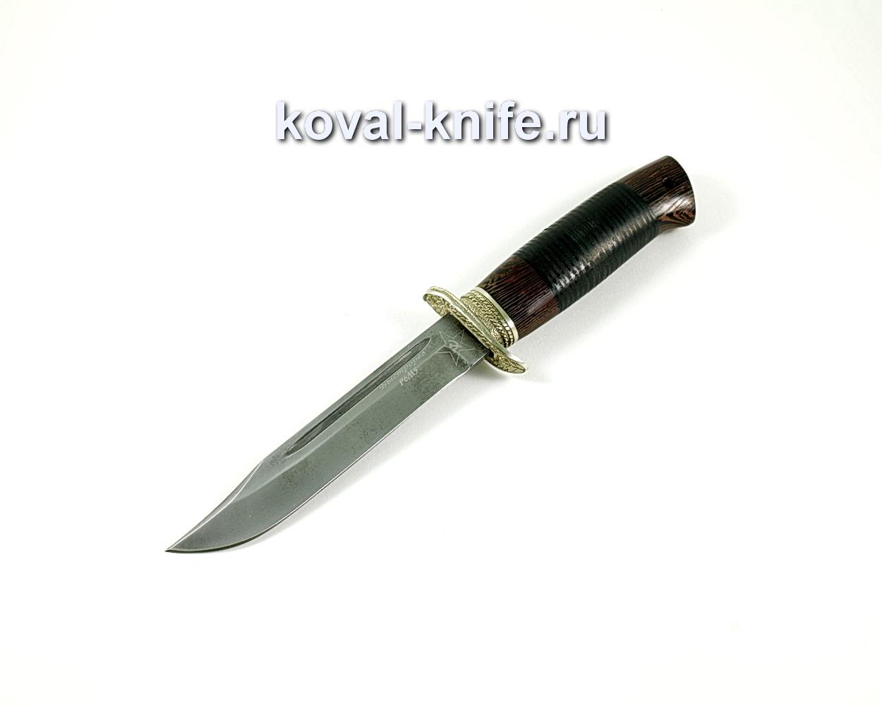 Нож Штрафбат(сталь Р6м5), рукоять венге, кожа A213