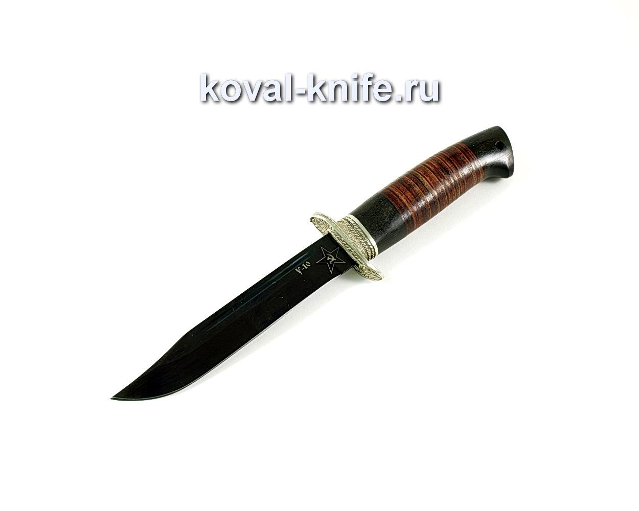 Нож Штрафбат (сталь У10), рукоять граб, кожа, литье A176