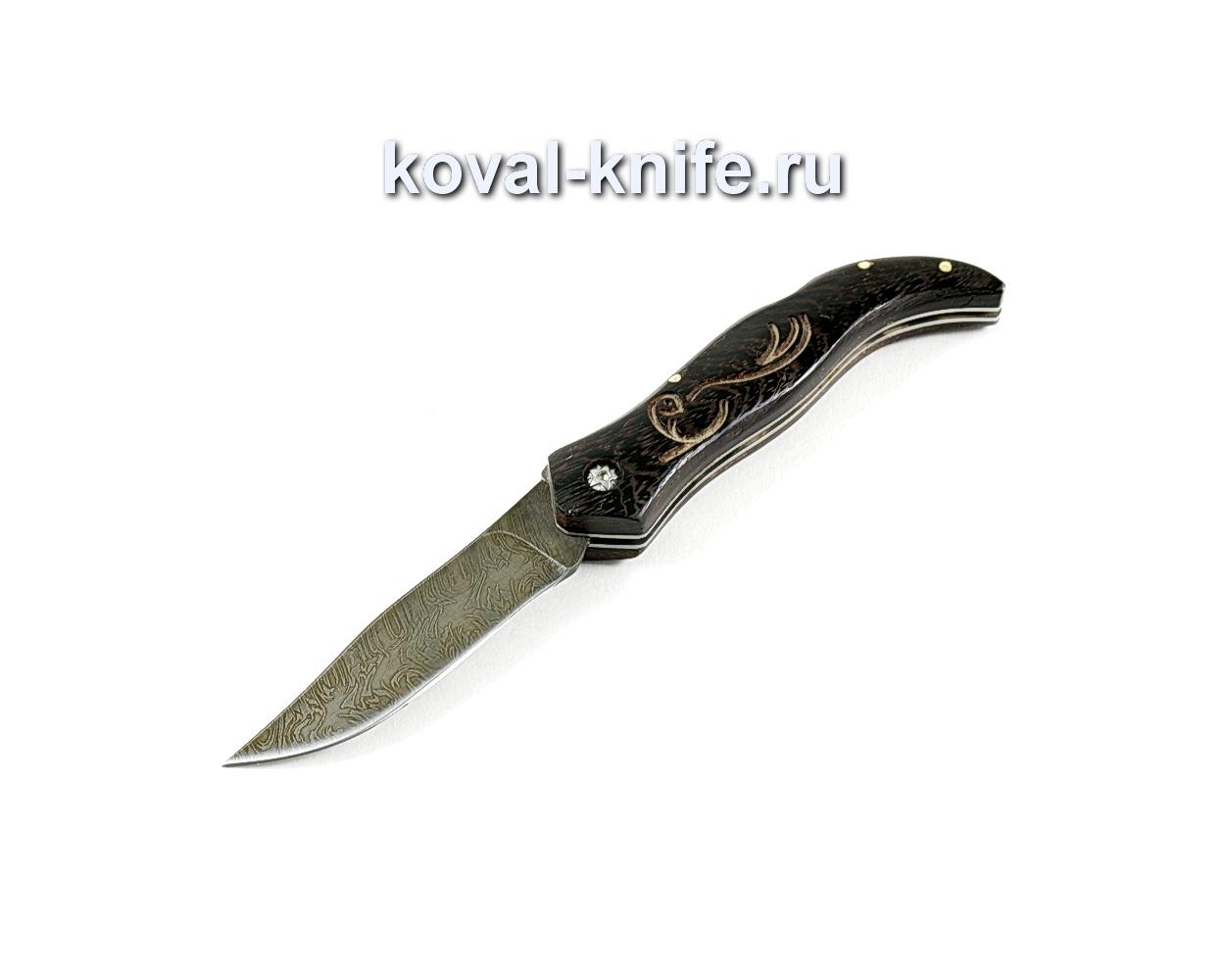 Нож Складной (сталь Дамасская), рукоять венге A248