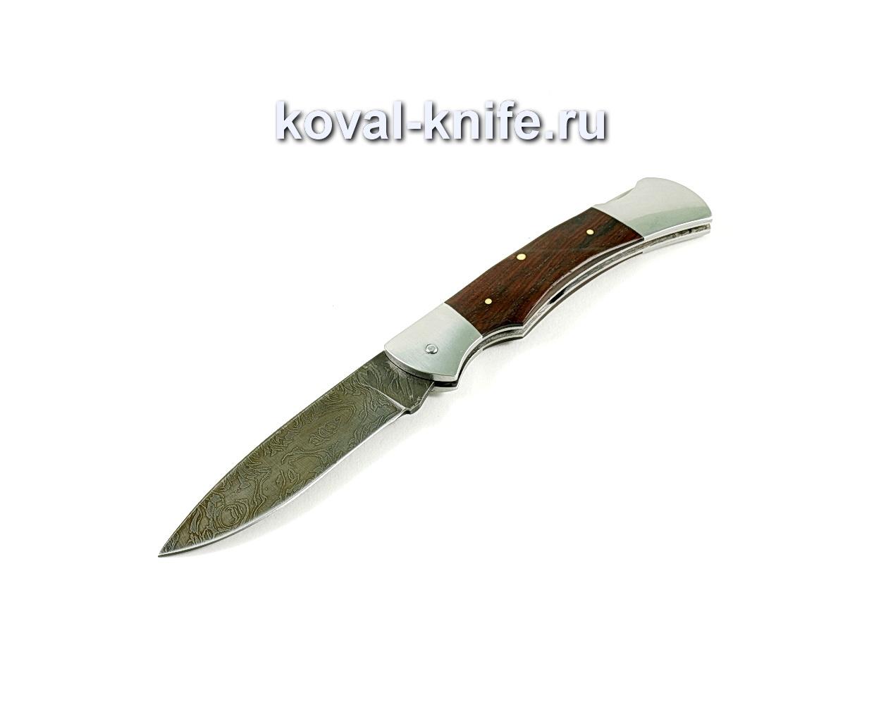 Нож Складной (сталь дамасская), рукоять орех A250