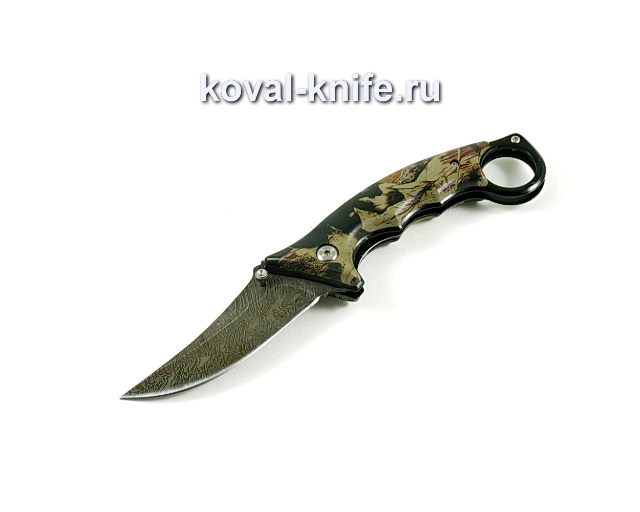 Нож Складной (сталь дамасская), рукоять пластик