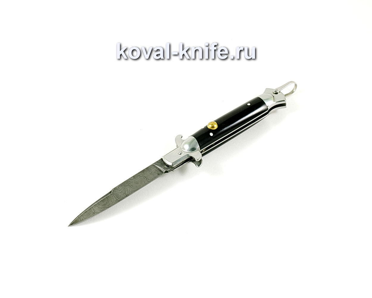 Нож Флинт (сталь Дамасская), рукоять эбонит A328