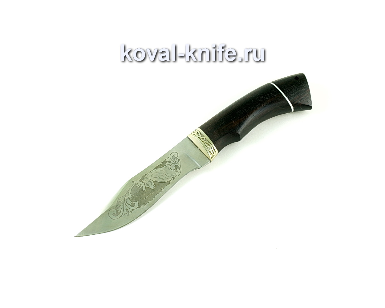 Нож Охотничий (сталь 65х13), рукоять граб, литье A169