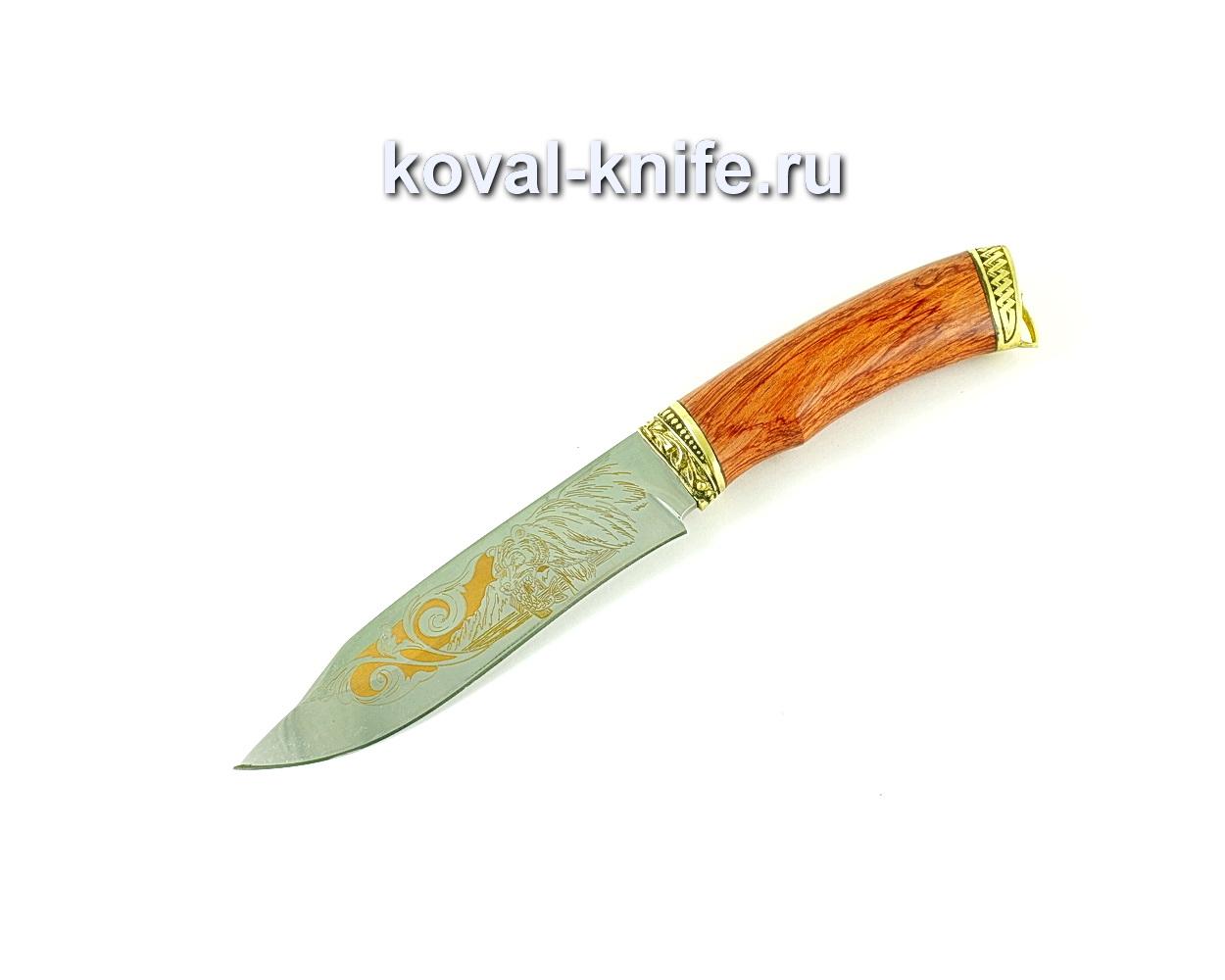 Нож Орлан (сталь 65х13), рукоять бубинга, литье A175