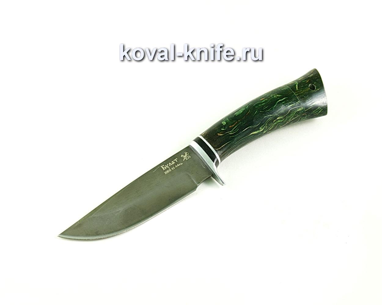 Нож Норвег (сталь Булат), карельская береза-стабилизированная A297