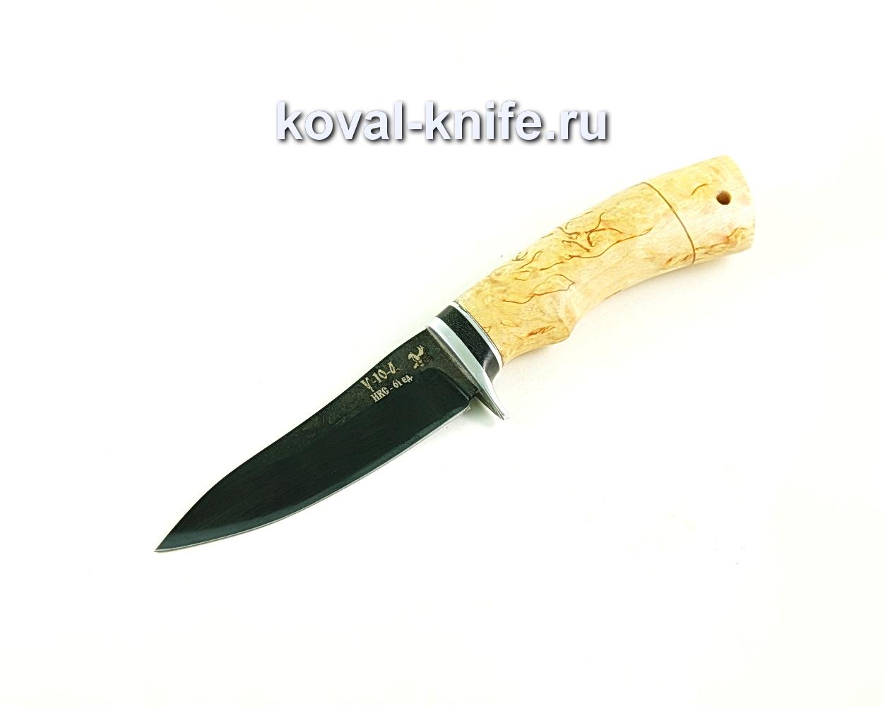 Нож Лань (сталь У10), рукоять карельская береза A300