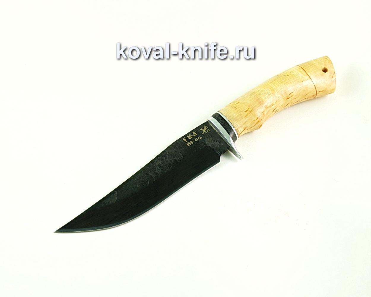 Нож Клыч (сталь У10), рукоять карельская береза