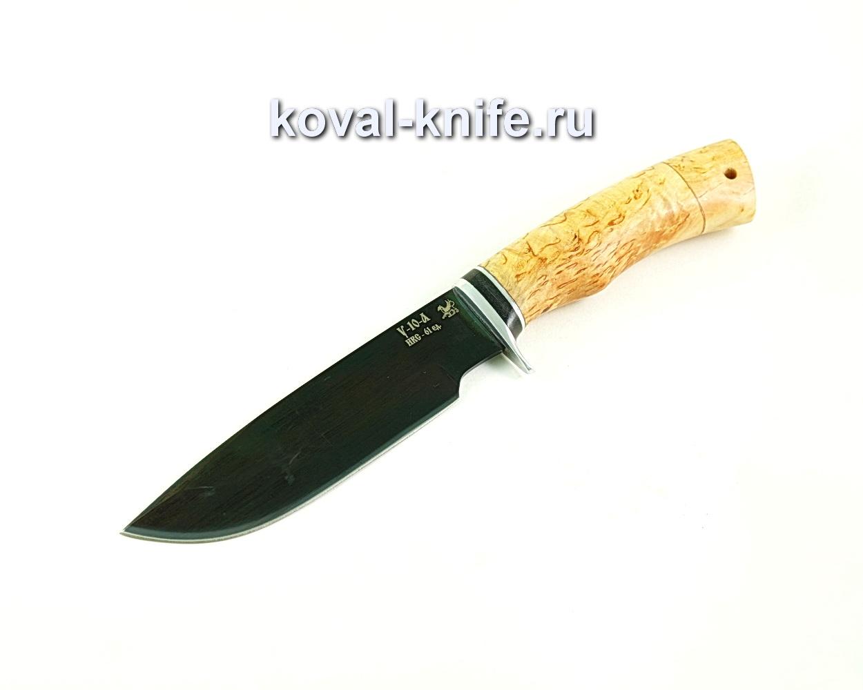 Нож Барс (сталь У10), рукоять карельская береза A306