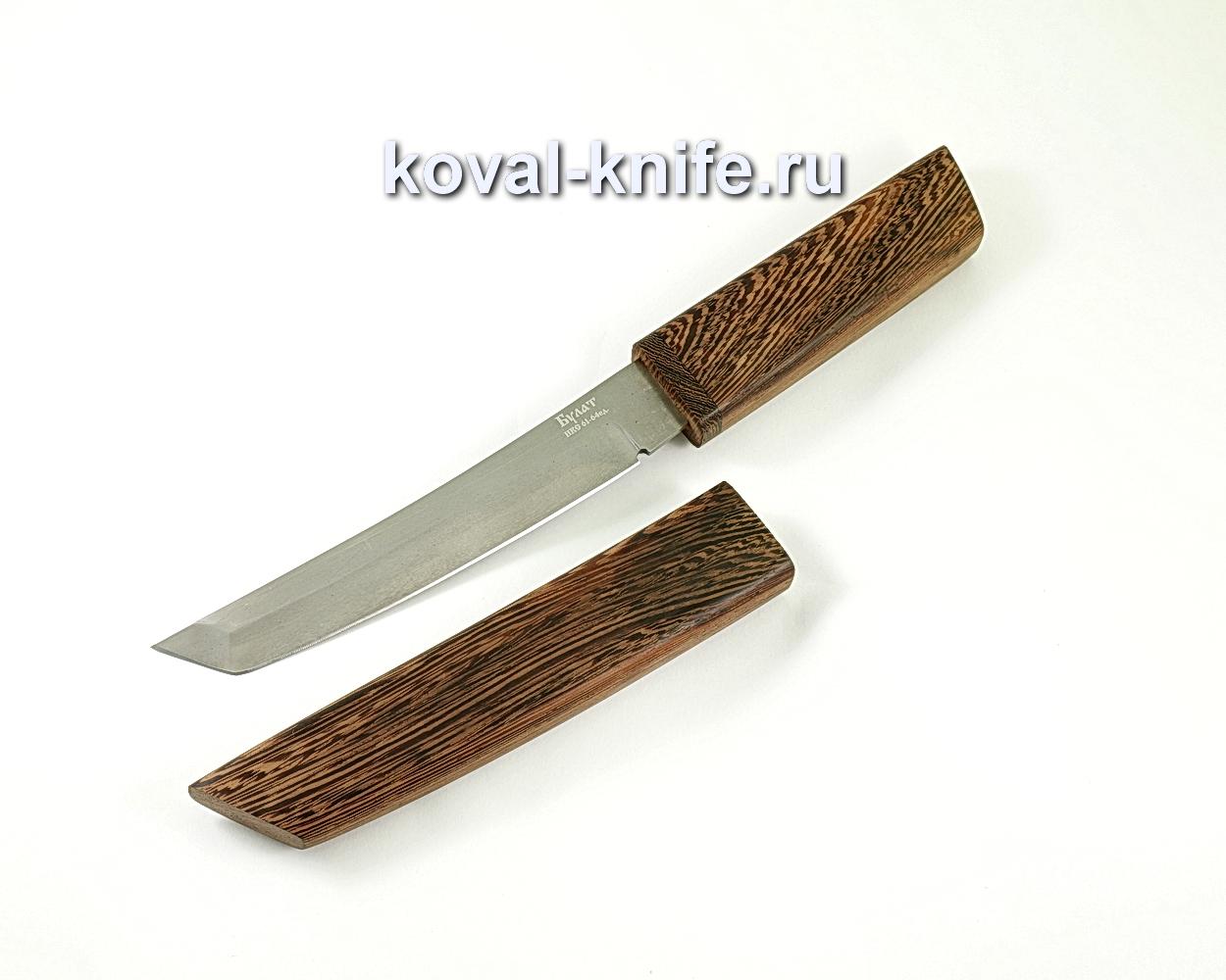 Танто (сталь Булат), рукоять и ножны венге A314