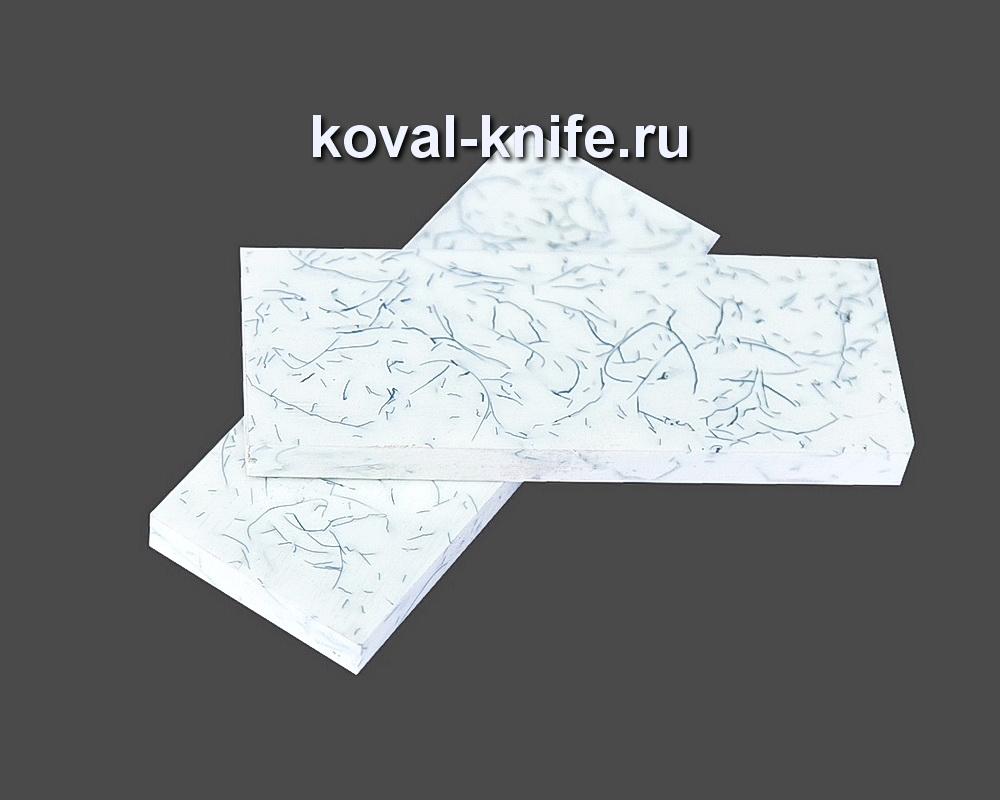 Накладки для рукояти ножа из композита (белый цвет) №11