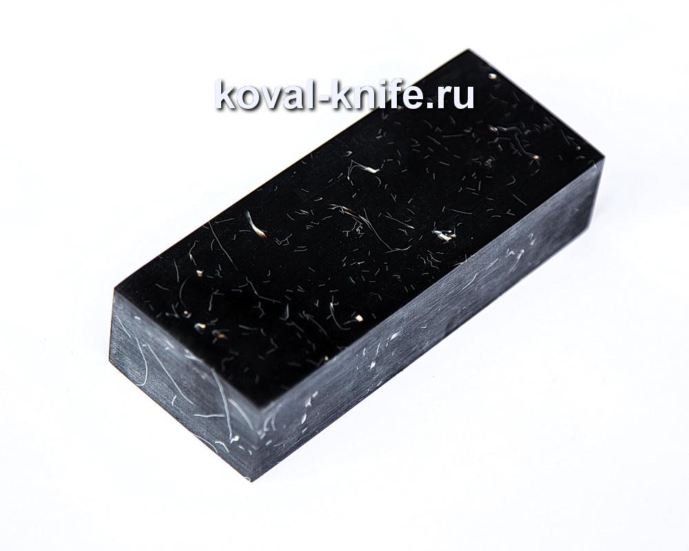 Брусок для рукояти ножа из композита (черный цвет) №2