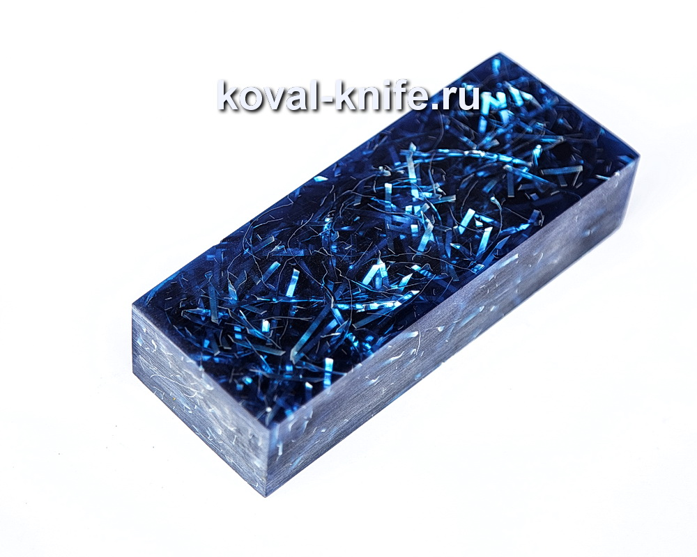 Брусок для рукояти ножа из композита (синий цвет) №3