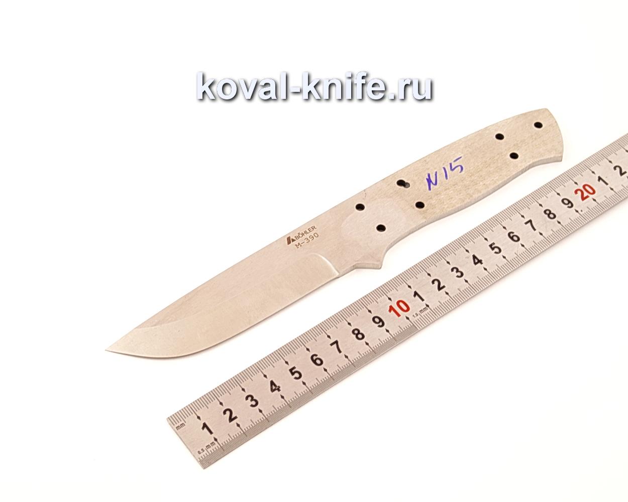 Клинок для ножа из порошковой стали Bohler M390 N15