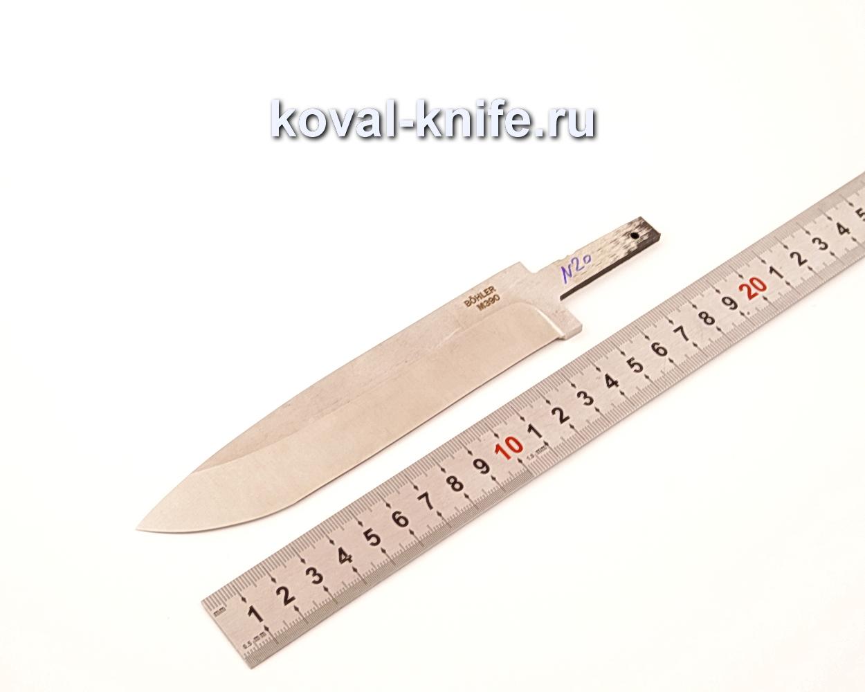 Клинок для ножа из порошковой стали Bohler M390 N20