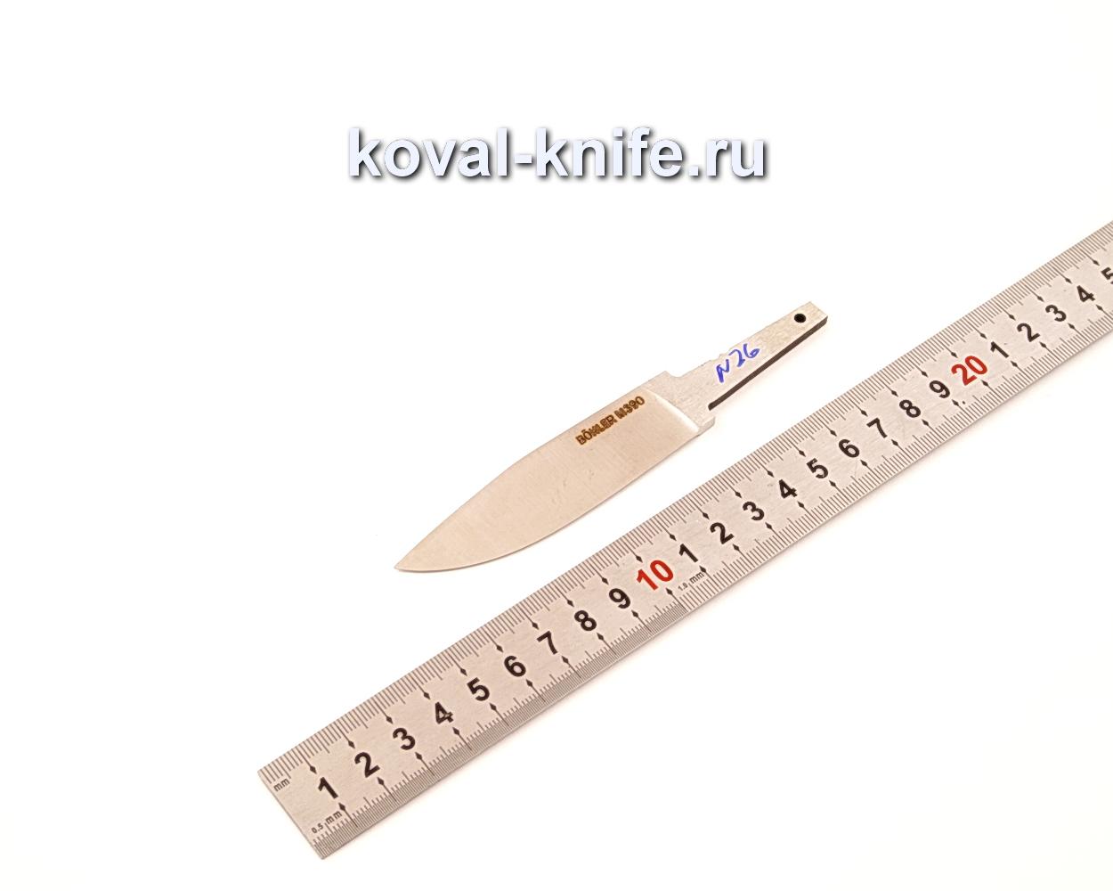 Клинок для ножа из порошковой стали Bohler M390 N26