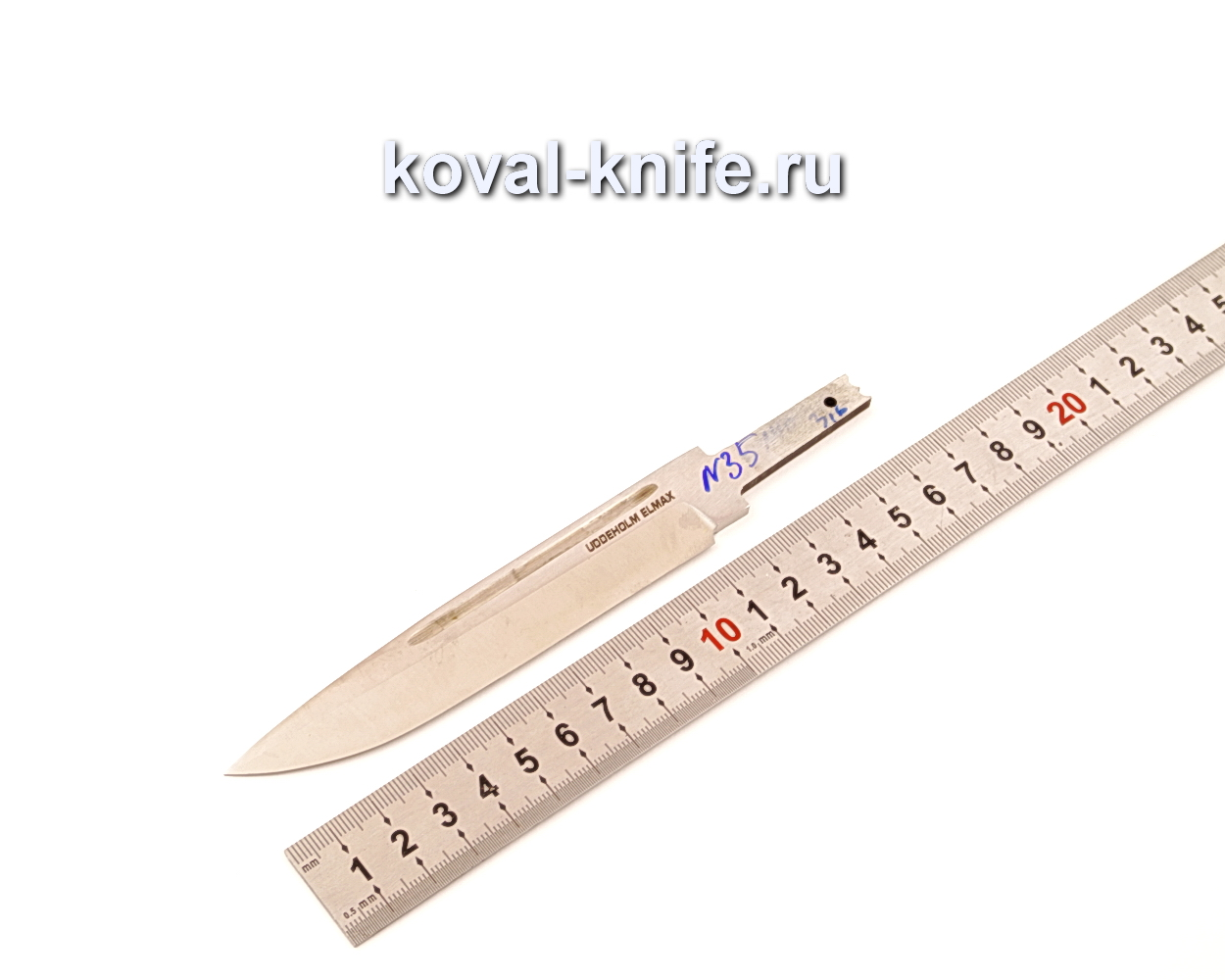 Клинок для ножа из порошковой стали Elmax N35