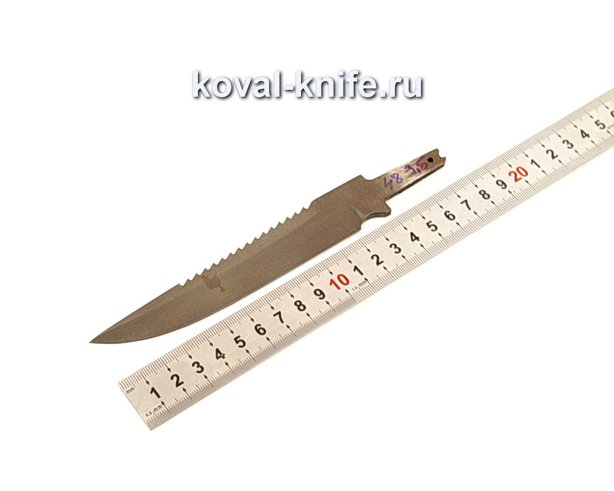 Клинок для ножа Рыбак из из булатной стали N48