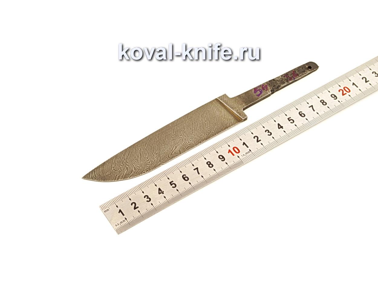 Клинок для ножа из дамасской стали N54