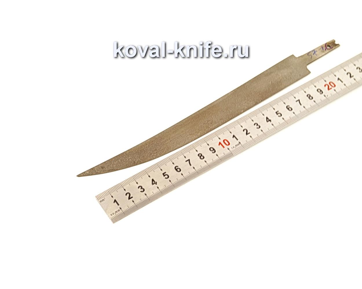 Клинок для филейного ножа из из булатной стали N57