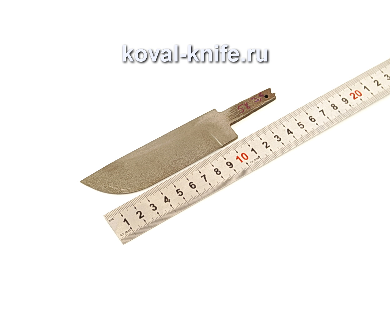 Клинок для ножа из булатной стали N58
