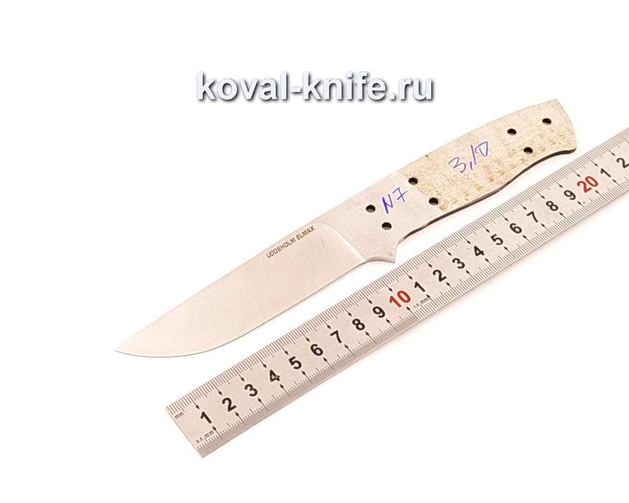 Клинок для ножа из порошковой стали Elmax N7