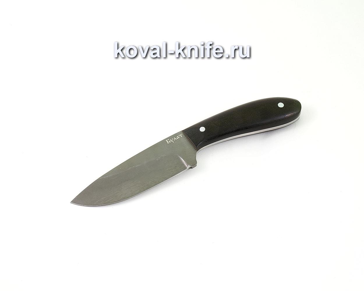 Нож из булатной стали Заяц (Легированный булат, рукоять граб) A461