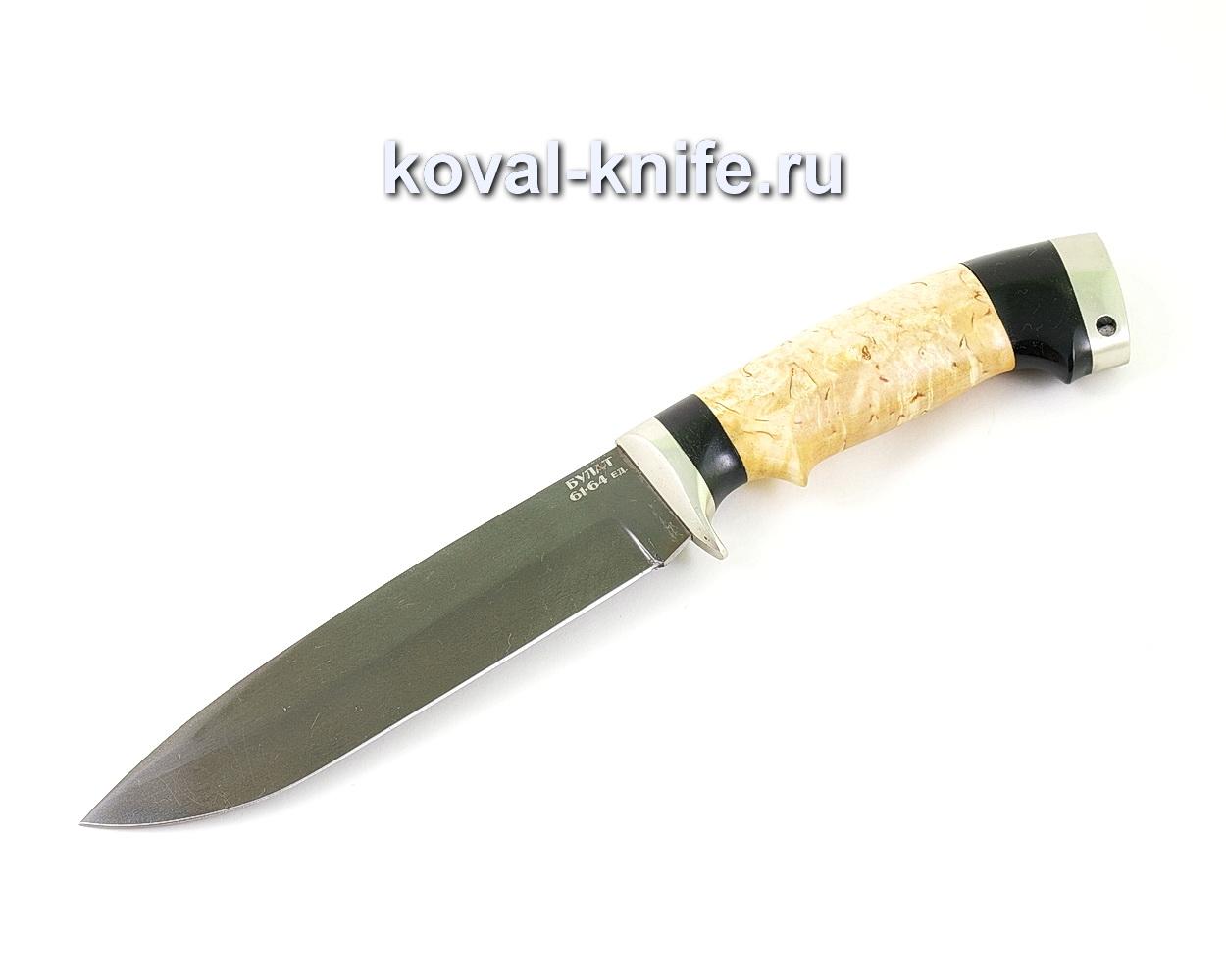 Нож из булатной стали Турист (Легированный булат, рукоять карельская береза, граб) A462