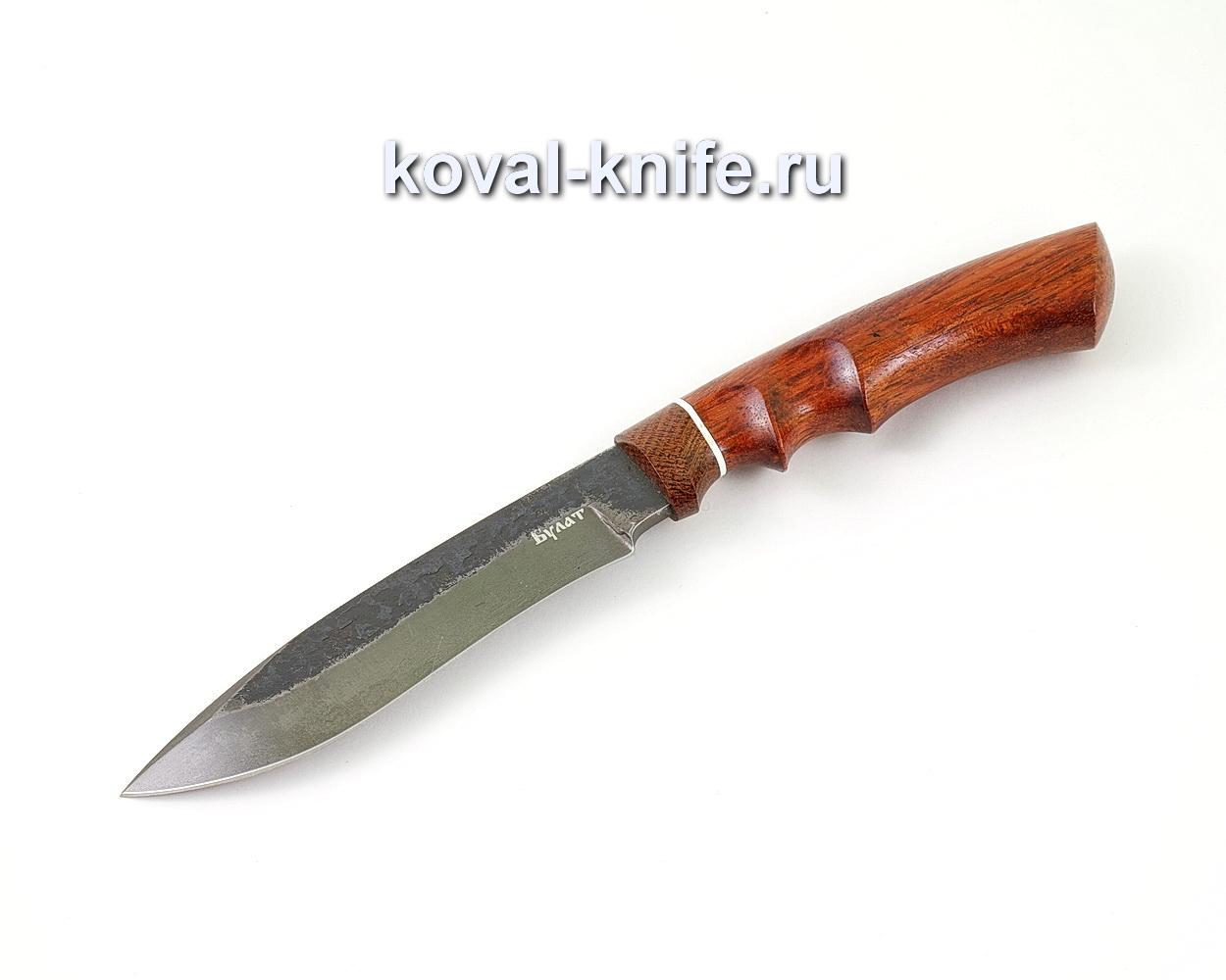 Нож из булатной стали Орлан (Легированный булат, рукоять бубинга, текстолит) A463