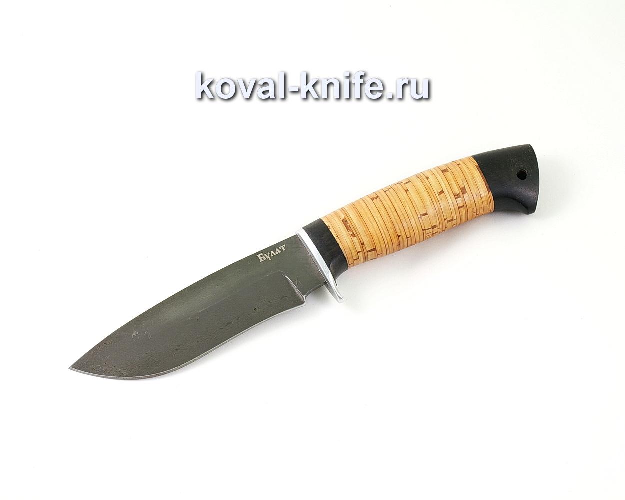Нож из булатной стали Сапсан (Легированный булат, рукоять береста и граб) A465