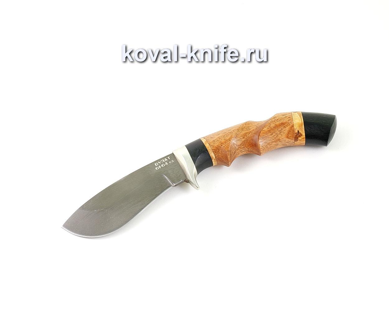 Нож из булатной стали Носорог (Легированный булат, рукоять бубинга и граб) A468