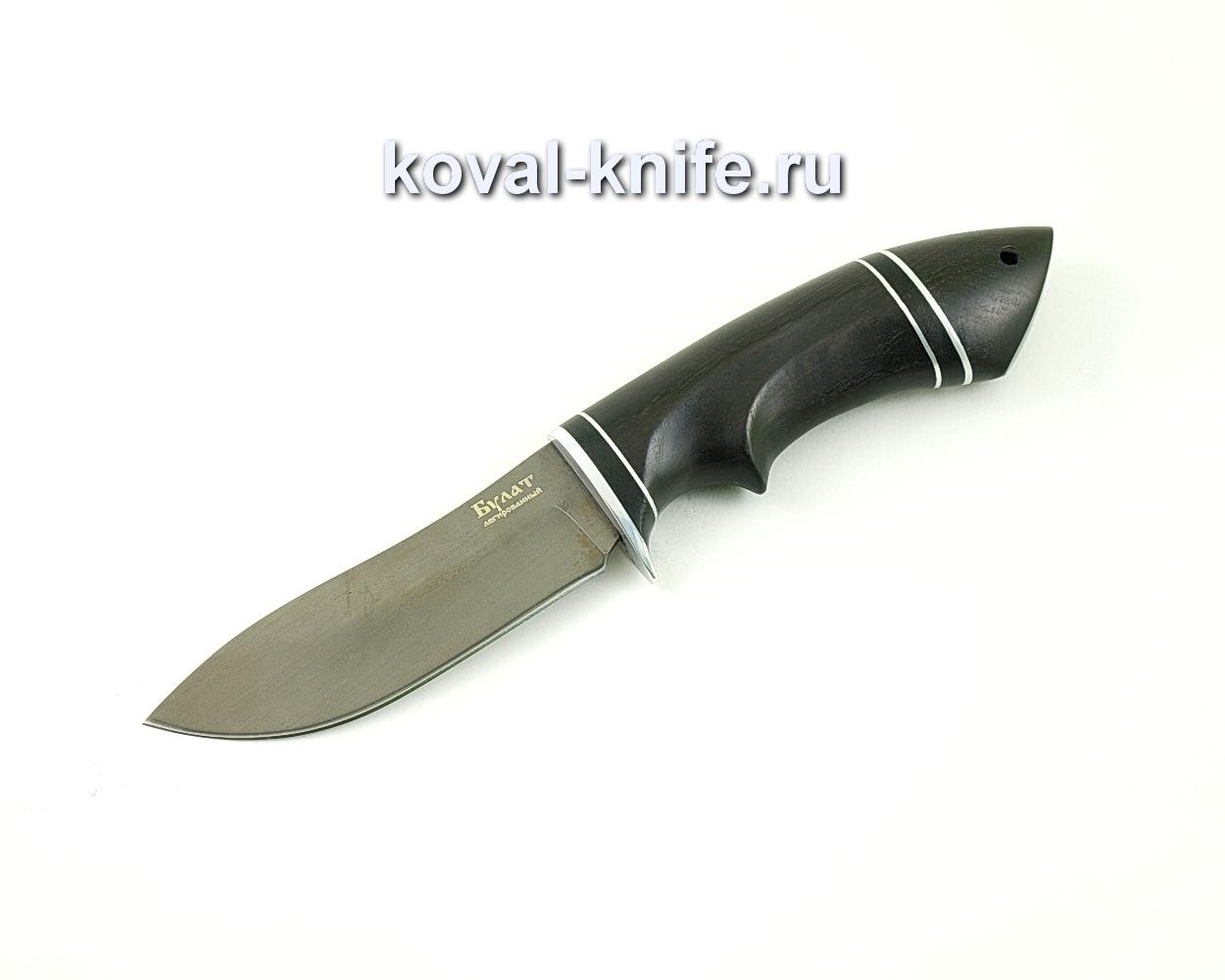 Нож из булатной стали Кабан (Легированный булат, рукоять граб) A475